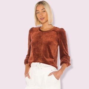 Heartloom Allie Terracotta Velvet Pullover